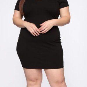 NWT Fashion Nova Justyn Mini Dress Black 3X